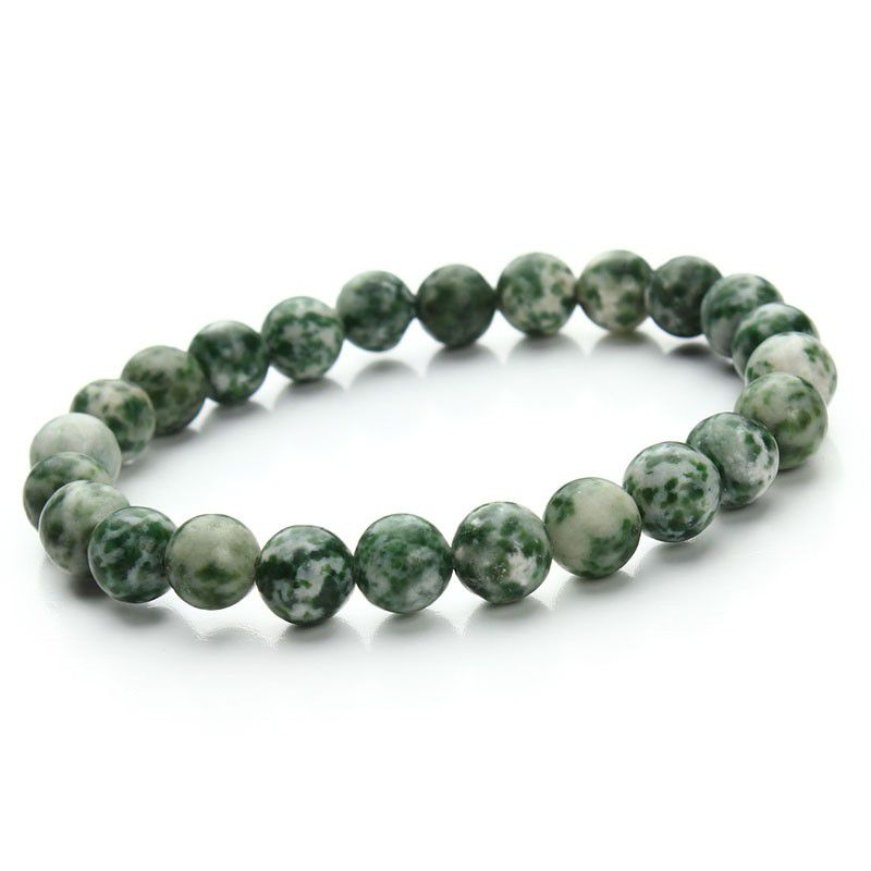 2018 New Style Natural Stone Beads Bracelet Women Men Rose Lemon Coffe Green Deep CoffeeBeaded Stretch Bracelets Bangles Free Shipping