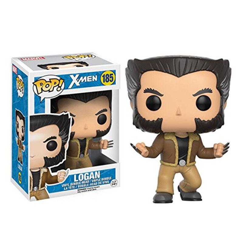 X-Men Funko POP Marvel Logan Anime Wolverine Action Figure Animation Movie 10CM figure models box wonder Super Heros Avenger captain america