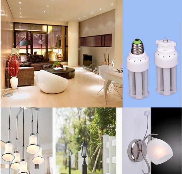 120v Meduim Base E26 LED Light 5w 7w 10w 12w 15w Clear/Frosted Cover 240v GX10 G24Q Corn Bulb Aluminum Alloy Heat Sink Inside