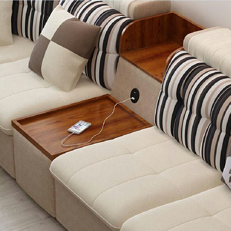 Novelty Furniture Accessories Round Insert Sofa Seat Cabinet Desk Table  Phone PC Computer Dual USB2.