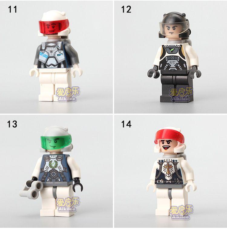 Building Blocks Bricks Minifig Puzzles Army Boys Girls Firemen Policemen Astronaut Music Player helmet Protection armor military OPP BAG