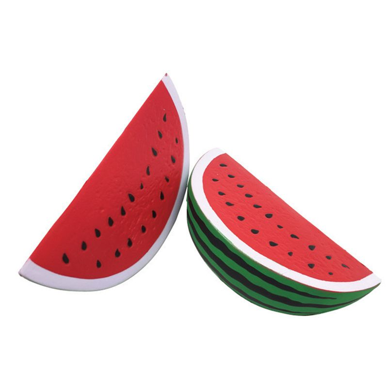 Watermelon Squeezing Toys Stress Relief 6.3inches 16CM Sponge Scented Anti-Stress Reliever Decompression Novelty Gag Toy Squishy Squishies