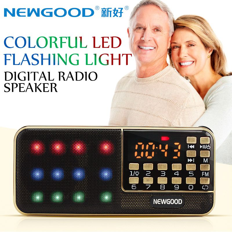 LED flashing light 1800*2,3600mAh super long time standby MP3 music player speaker