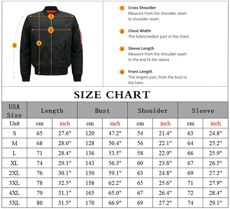 Drop shipping USA SIZE Free Design Customize Logo Men Bomber Jacket for Men's Jackets Flying Jacket Winter thicken Men Coats