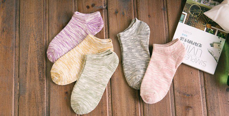 Spring Female Japanese Boat Socks with Rough Line and Retro Short-barreled Cotton Short-cut Shallow-mouth Air-permeable Korean Boat Socks