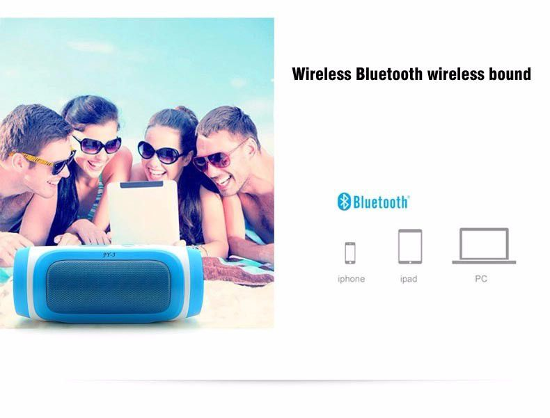 Wireless outdoor Portable Bluetooth Speaker loudspeakers mini music JY-3 speakers sound box with FM radio For Phone MP3 computer