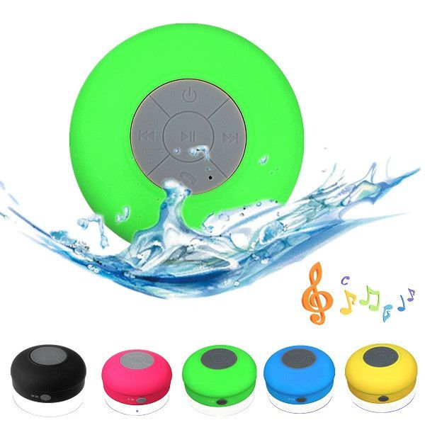 Portable Subwoofer Waterproof Shower Wireless Bluetooth Speaker Car Handsfree Receive Call Music Suction Phone Mic For iPhone