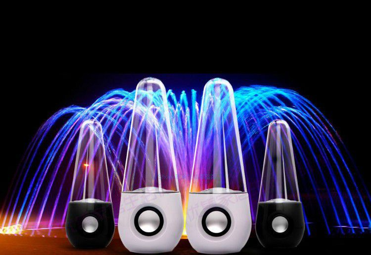 Colorful Lights Dancing Speaker Water Fountain Water Sound for Computer Speakers Mobile Computer Mini Amplifier Speaker # YNS143