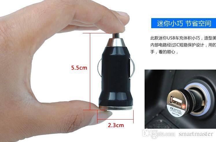2015 High Quality limited new mixcolor mini usb car charger adapter one port for iphone5/5s 6/6plus for ipad mini air mobile phone mp3 mp4 D