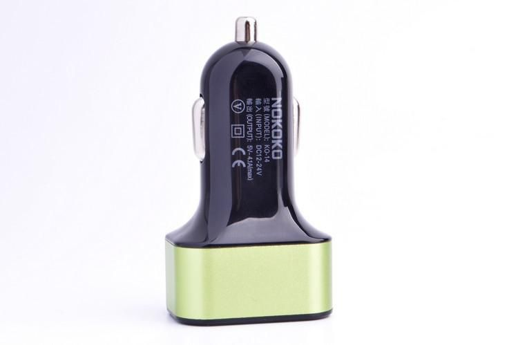 Top Quality 4.1A Max 3 Port Car USB Charger Aluminum Alloy Protable Mini Mobile Phone Charger for iPhone 6/5/4S Samsung Galaxy DHL