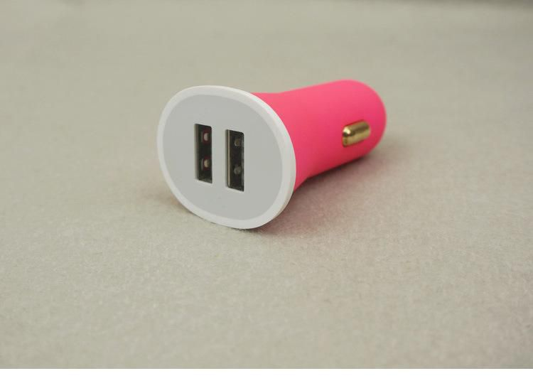 2015 Newest 2.1A Dual USB Duckbill Scrubs Car Charger Adapter For Apple Samsung Any Mobile Phone DHL