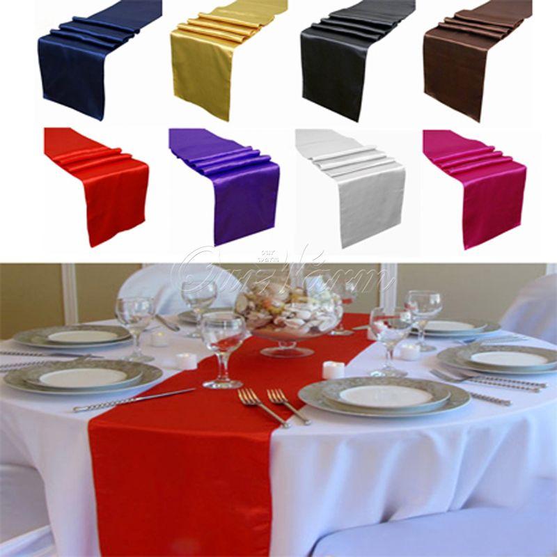 Satin Table Runner Many Colors You Pick For Christmas Decor For Christmas Wedding Favor Romance Atmosphere New Elegant Edyge RUN
