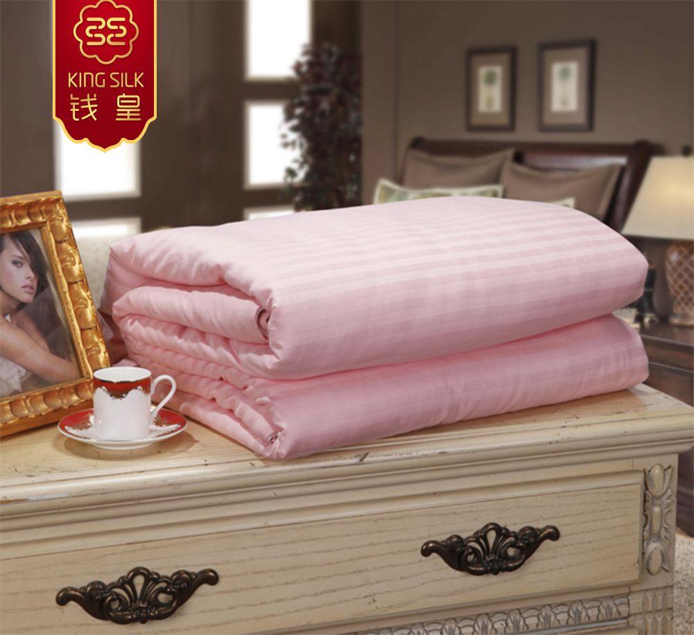 new winter 100% cotton warm comforter pure silk blanket quilt mulberry silk pink comforters