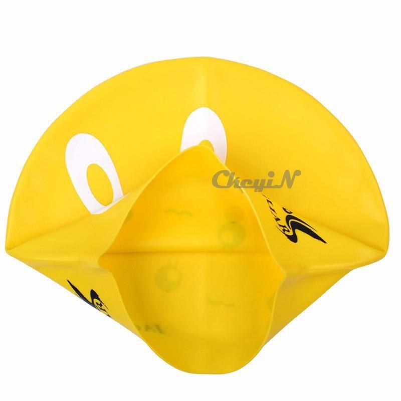 Cute Cartoon Comfortable Swimming Cap Silicone Elastic Sports Swim Hats Swim Pool Caps for Children Protect Hair 0.25-YY010 order<$15 no tra