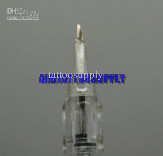 Nouveau 100pcs permanent makeup tattoo needles slope needle high quality free shipping