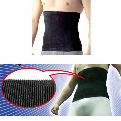 Fashion MEN'S Inner Muscle Belt Tummy trimmer Stomach Slimming belt body shaper belt with size M & L for your choice
