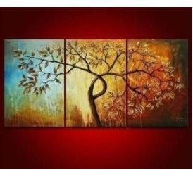 MODERN FLOWER CANVAS OIL PAINTING HANDPAINTE ART DECO 14 OIL PAINTING abstract tree art s11