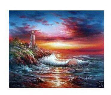 SEA The family decoration gifts murals hotel adornment picture art oil painting Small wholesale Modern abstract