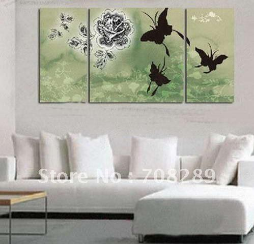 oil painting on canvas art home decoration modern abstract wall art oil paintings butterfly FLOWERS frameless living room A345