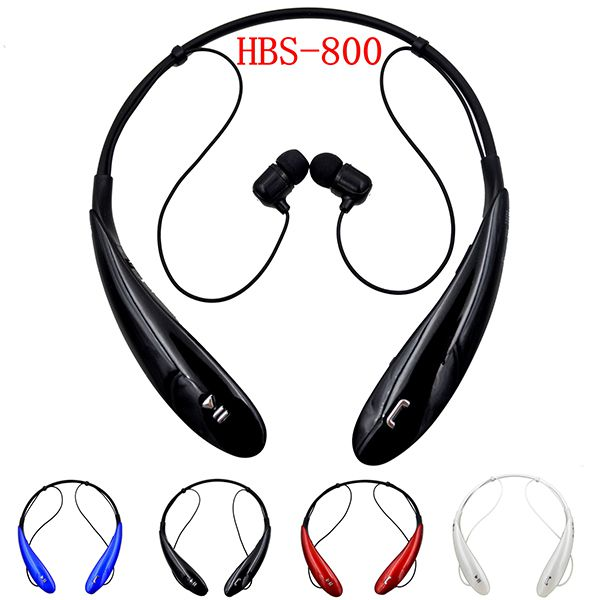 HBS 800 Bluetooth Headsets HBS800 Headphone Stereo Wireless Sport Neckband HBS-800 Earphones for Iphone6 PLUS Samsung S6 Edge Retail Package