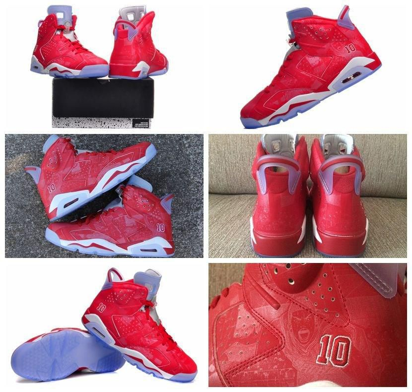 New Discount Brand Mens Retro 6 Slam Dunk Basketball Shoes Air Athletic Trainers Shoe 8-13