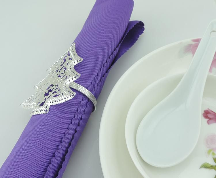 christmas trees Napkin Rings Wedding Accessories wholesale Hotel Table Decoration Accessories Free shipping R306