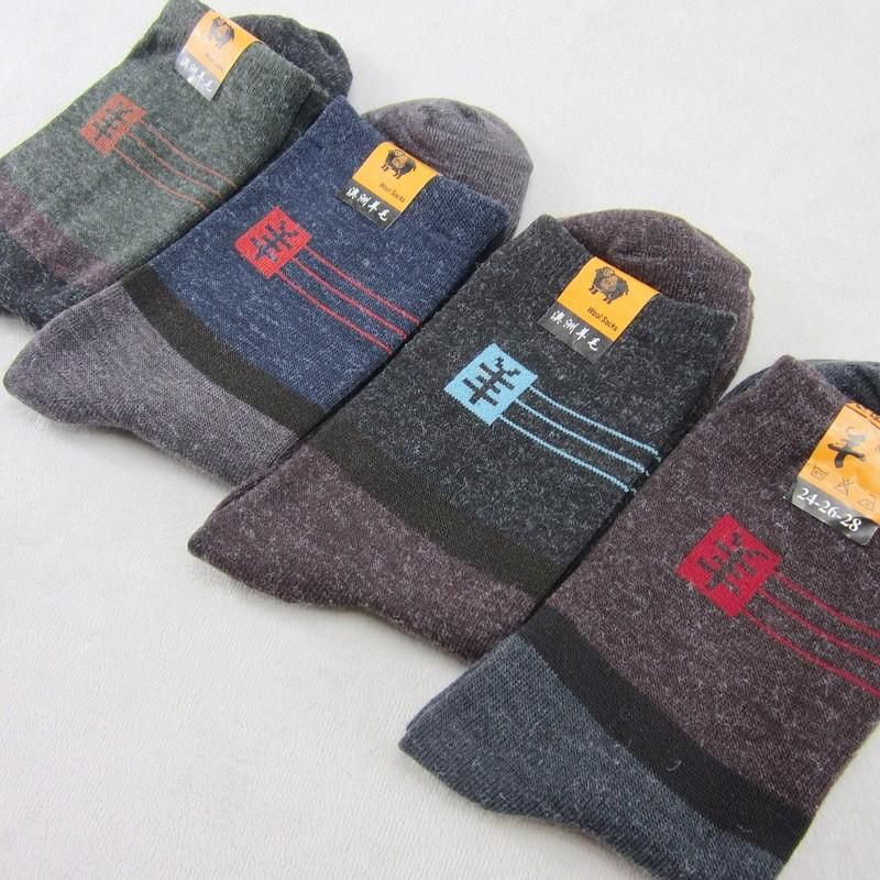 Men Socks Cotton Sweat Absorbing Breathable Winter Warm Thick Woolen Casual socks Men Sock Pack 10pairs/lot Winter Warm Clothing Accessories