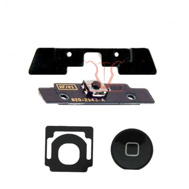 Home Button Circuit Board Flex Cable Full Set Replacement Spare Parts For iPad 2 2nd Gen Black and White Colour