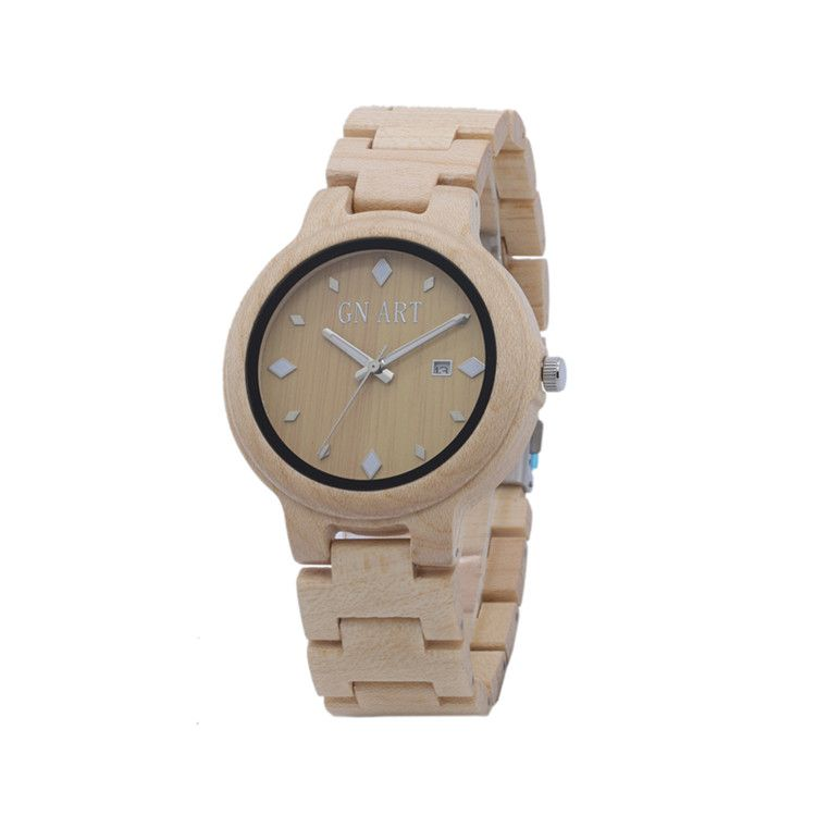 OEM Wood Watches With Japan Quartz Movement From Bewell Factory