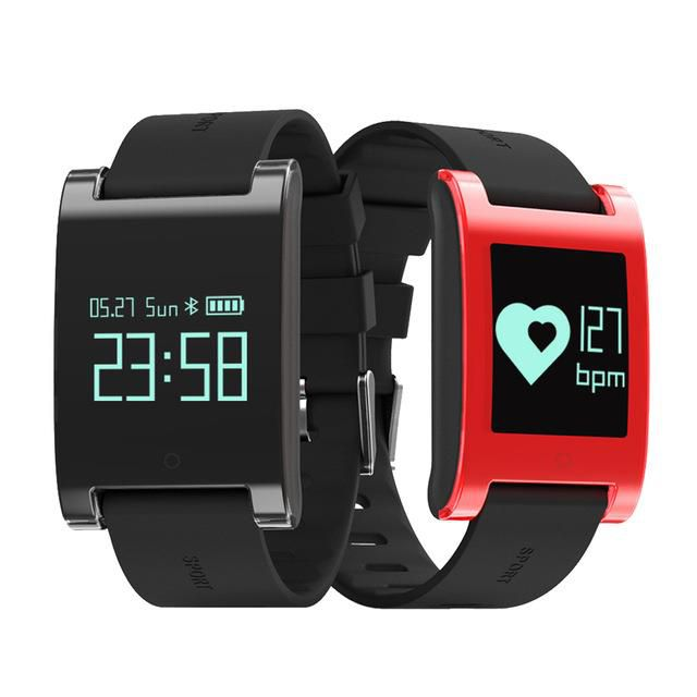 DM68 Heart Rate Smart Bracelet IP67 waterproof with Blood Pressure SMS, Facebook, Twitter, calls etc iOS8 version above and Androld 4.3