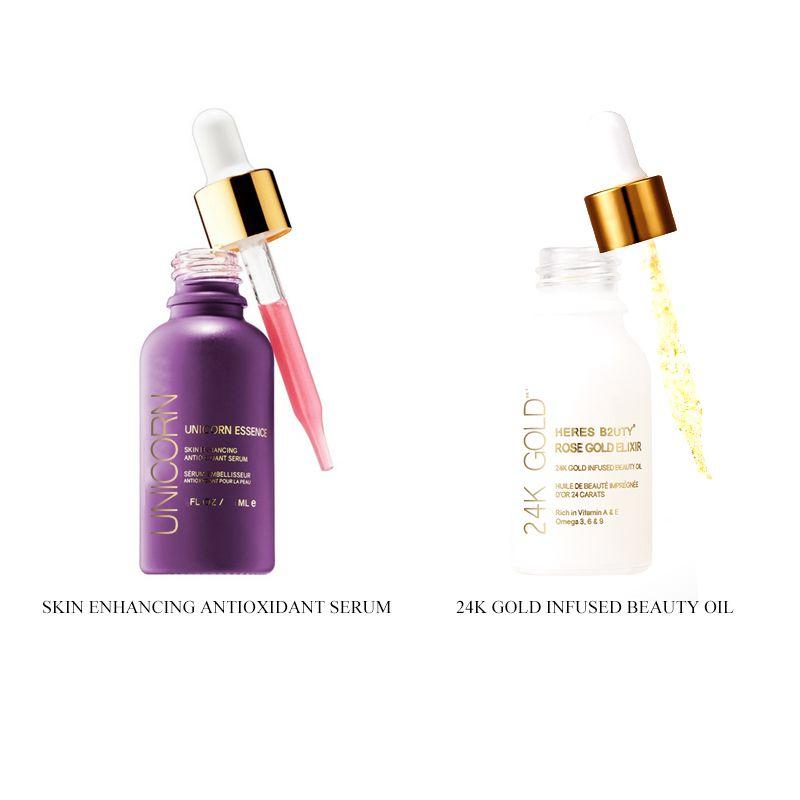 Brand HERES B2UTY 24K Gold Infused Beauty Oil+Unicorn Essence Skin Enhancing Antioxidant Serum Oil-Free Nutritious Makeup Primer