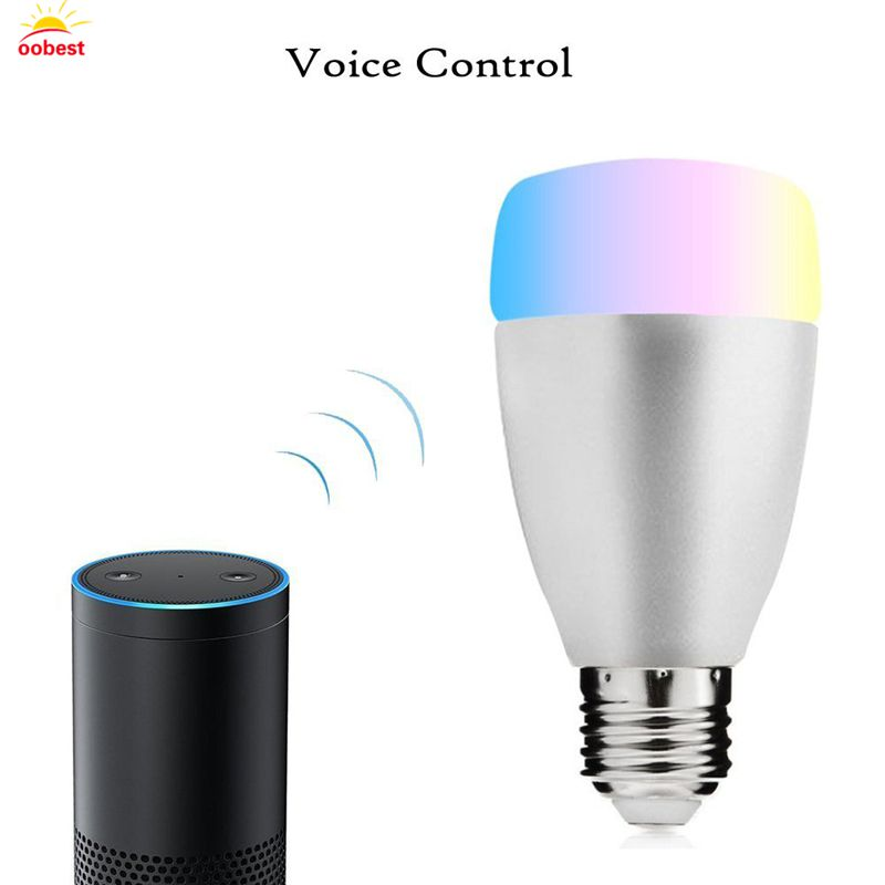 WiFi Smart Bulb For Alexa Voice Control 7W E27 B22 RGB LED Bulb For Android iOS Smartphone