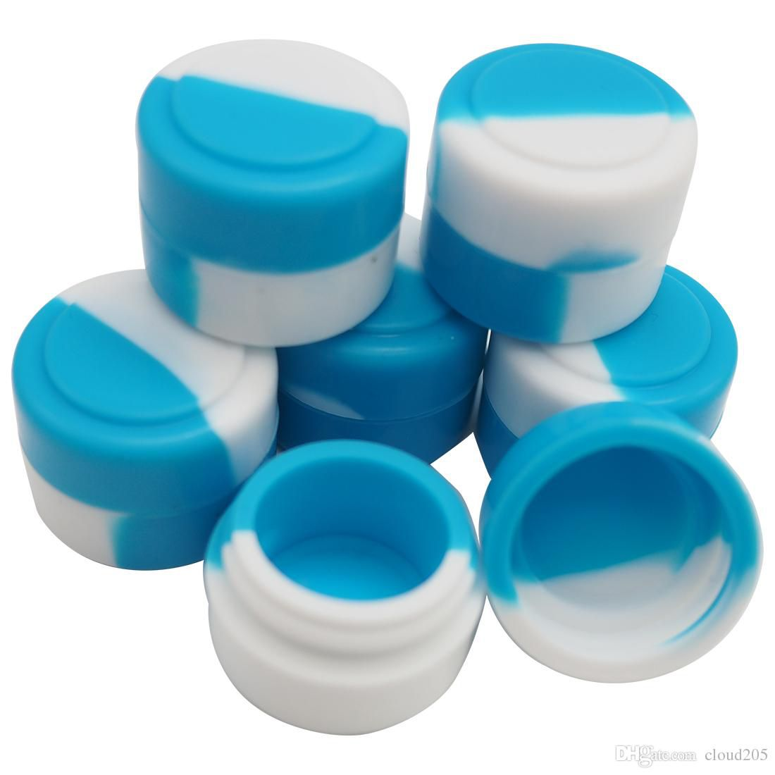Free shipping!The mini round non-stick silicone jars dab wax vaporizer oil container 2 ml wax jars