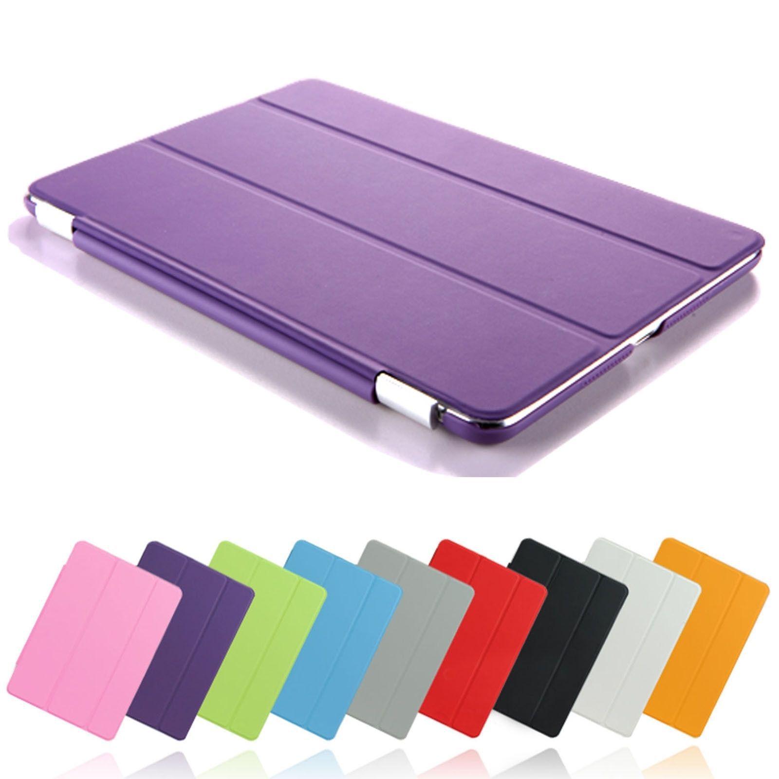 DHL Ultra Slim Magnetic LeatherSmart Co ver Case Protection For iPad 2 3 4 5 iPad Mini Mini4 Pro Retina Folding Stand Case Auto Sleep Wake