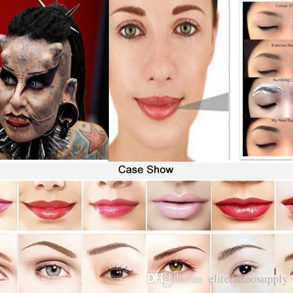 2015 Disposable Lips Needles Nouveau Permanent Makeup Eyebrow Pen Rotary Swiss Motor Tattoo Machine 5RL&RS Cartridge Free Shipping