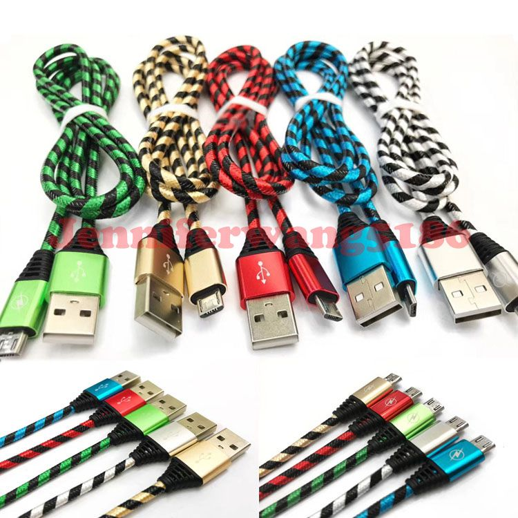 New Arrival High Quality Strong Braided USB Charging Cable Micro V8 Cables with DHL Free Shipping