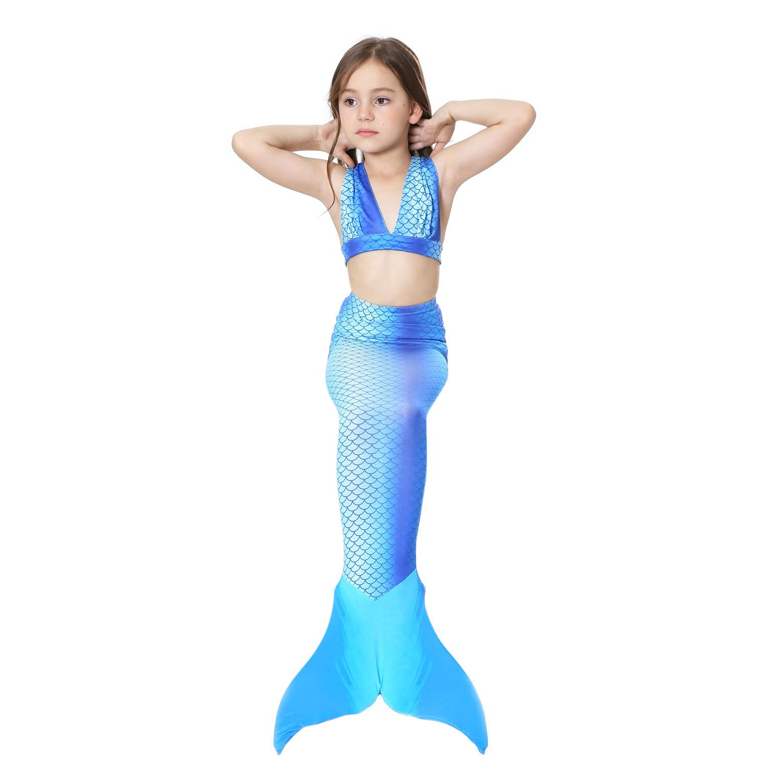 e4d2403cfb8 Mermaid Swimsuit for Baby Girl Mermaid Tail Bikini Suit Swimwear INS ...