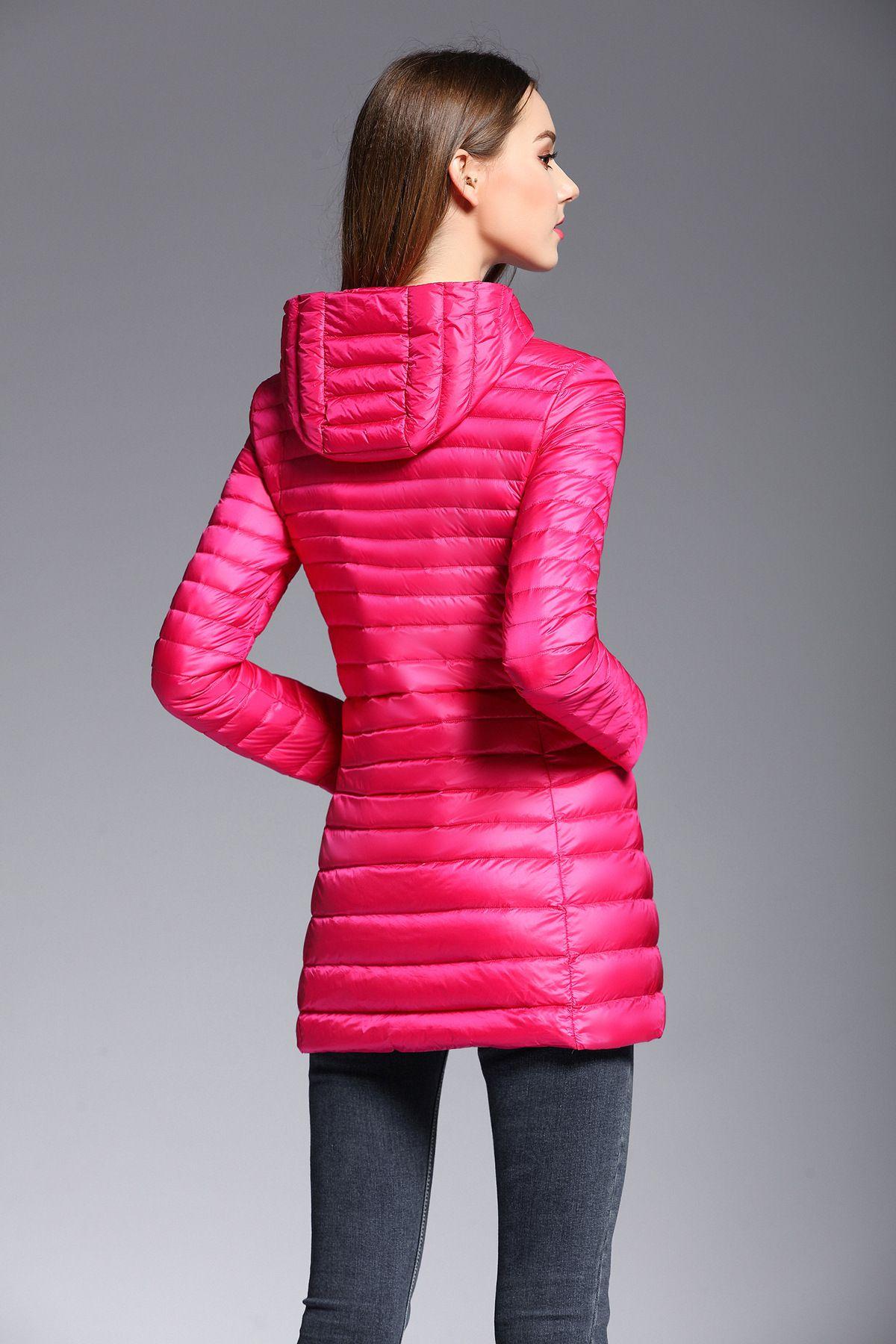 818d6b7b0 Hooded Winter Spring Women 90% White Duck Dow Down Jacket Woman ...