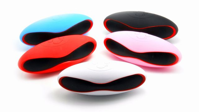 Mini-X6U X6 Rugby Football Stereo Speaker Subwoofers Mini Portable Soccer Wireless Bluetooth V3.0 Speakers With U Disk TF Card Mic