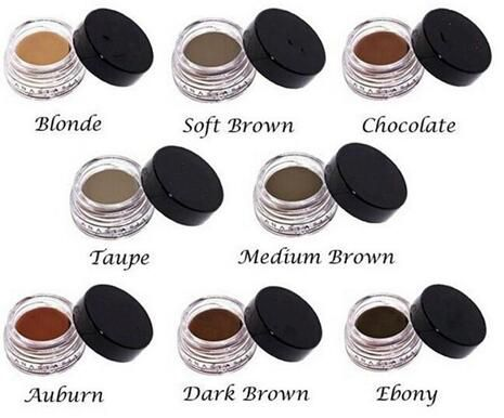 HOT Pomade Medium Brown Waterproof Makeup Eyebrow 4g Blonde/Chocolate/Dark Brown/Ebony/Auburn/Medium Brown eyebrow gel powder
