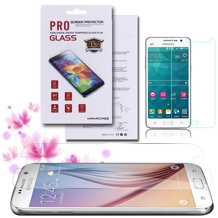 Explosion Proof Real Tempered Glass Film Screen Protector For Samsung Galaxy Grand Prime G530 A7 A5 A3 S7 S6 S5 With Retail Package 100pcs