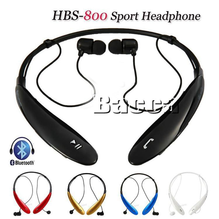 Gold Tone Ultra HBS900 HBS CSR 4.0 hbs 800 Wireless Bluetooth Neckband Stereo Headset for LG for iphone6 6s with retail box