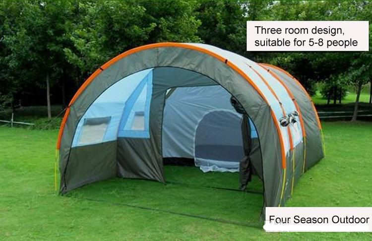 Outdoor 5-6-8-10 Persons Family Camping Hiking Party Large Tents 1 Hall 2 Room Waterproof Tunnel Tent Event Tents Beach Tent Naturehike DHL