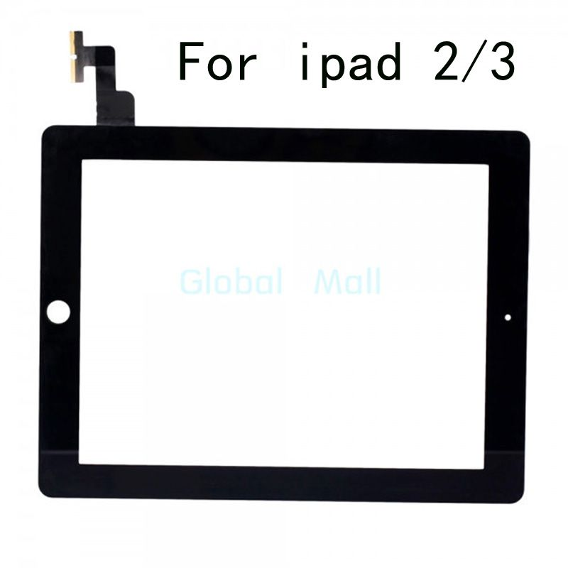 Original For iPad 2 ipad 3 Touch Screen Glass Digitizer Replacement Part black&white For Apple Ipad2 3 Replacement Sreen touch Free shipping