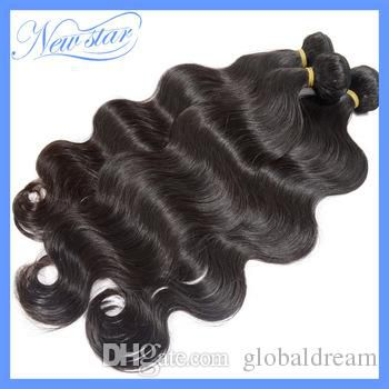 Brazilian Body Wave Hair Natural Black No Smell Can Be Dyed No Shedding