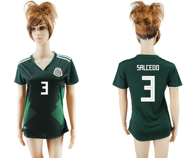 soccer jersey women World Cup Mexico SALCEDO 3 camisetas de futbol home  retro uniform. 1869444c6