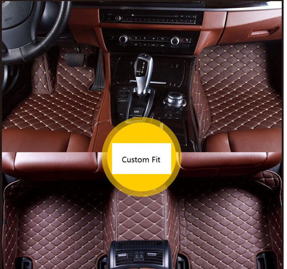 Diamond Style Designed 5d Leather Car Floor Mats For Mercedes Benz
