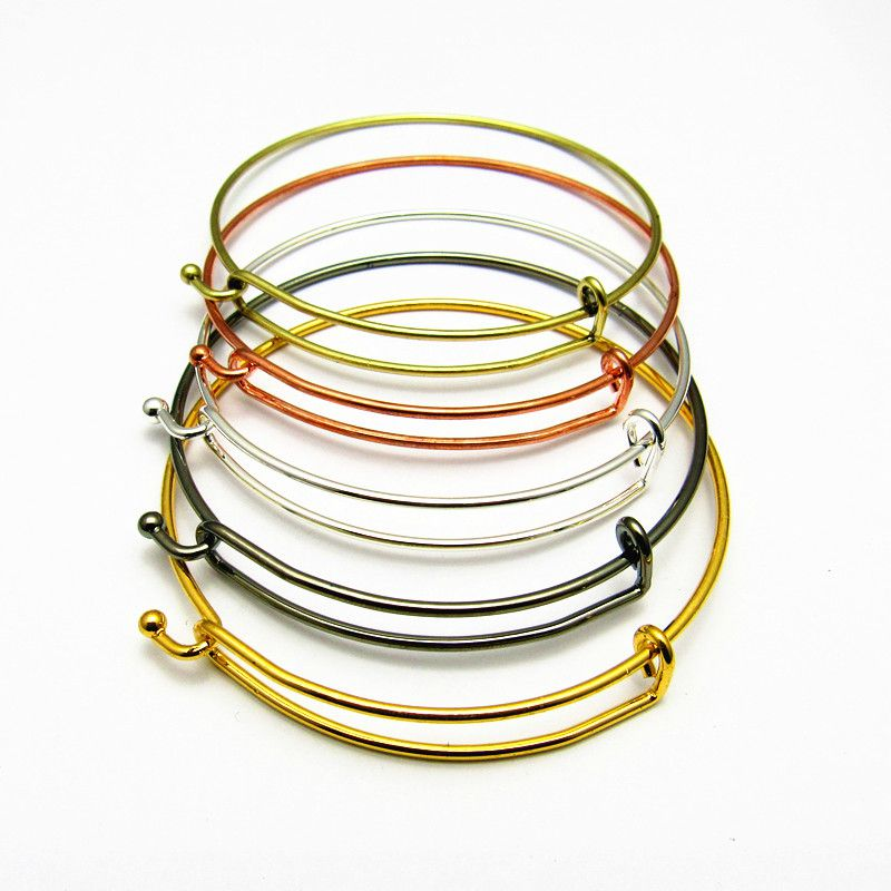 2017 New Arrival Limited Free Shipping Fashion DIY Jewelry Simple Atmospheric Push Pull Ring Steel Wire 2 Color Gold And Silver Bracelet
