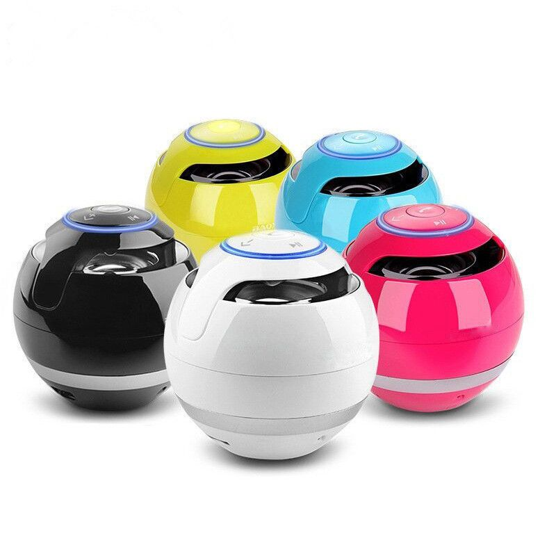 Wireless Bluetooth Speakers With Subwoofer Mini Round Hi-Fi Speaker Portable Speakers For Hands-Free Indoor Outdoor Bluetooth Speaker
