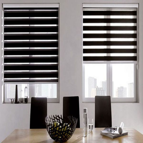 Zebra Blinds Double Layer Roller Blinds Translucent Curtain Custom Made Shade for Living Room Bedroom GY01-013